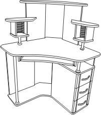 Ску6 - компьютерные - столы письменные, компьютерные - катал.